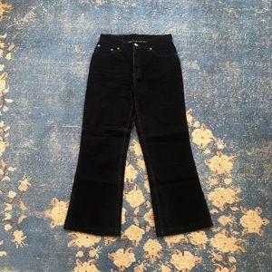 Vintage Levi's Black Velvet Kick Flare 27